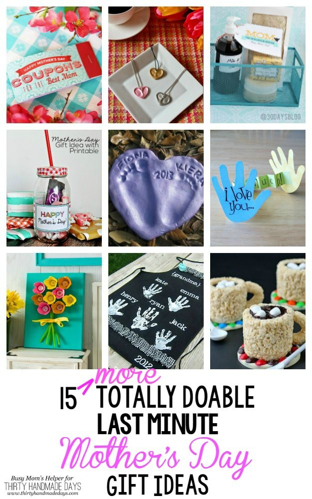 Great Mother's Day gift ideas you can do last minute. If you're running out of time try one of these awesome Mother's day gifts!