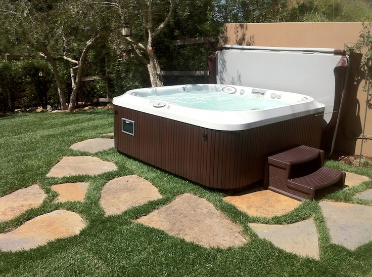 79 best images about backyard designs with our spas on for Spa patio designs