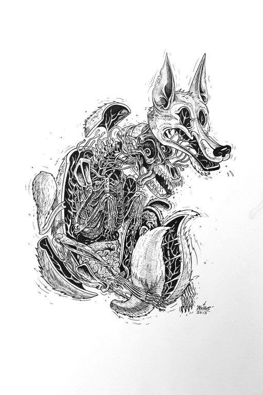 Dissection of a Wolf by NYCHOS
