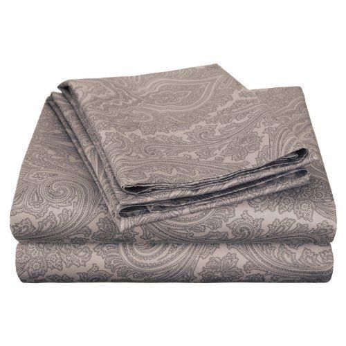 Impressions Cotton Rich 600TC Italian Paisley Sheet Set - The Impressions Cotton…