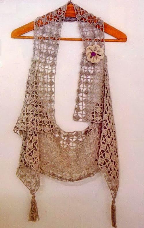 Bufanda Chaleco Crochet Patron - Patrones Crochet