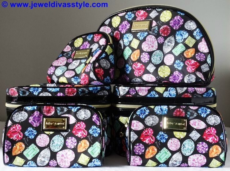 JDS - Travel in Style: Betsey Johnson gemstone bags to carry your jewels in - http://jeweldivasstyle.com/travel-style-betsey-johnson-gemstone-bags-to-carry-your-jewels-in/