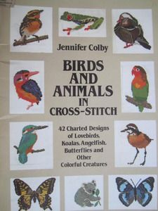 SeeSallySew.com - Birds and Animals in Cross Stitch Needlepoint Design 42 Charts Book, $10.99 (http://stores.seesallysew.com/birds-and-animals-in-cross-stitch-needlepoint-design-42-charts-book/)