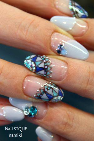 Mint blue Nail