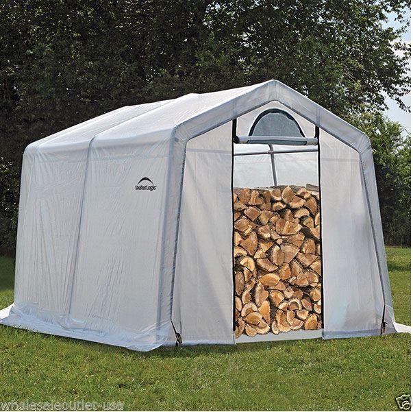 Shelterlogic  Firewood Seasoning Medium Fabric Shed 10 X 10 X 8 #shelterlogicshelterlogicshedinabox