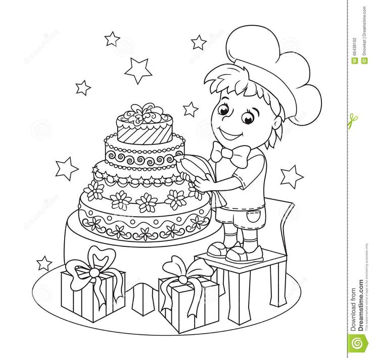 little-cute-pastry-chef-book-coloring-boy-made-big-beautiful-cake-greeting-card-birthday-other-holiday-page-pages-66438102.jpg (1348×1300)