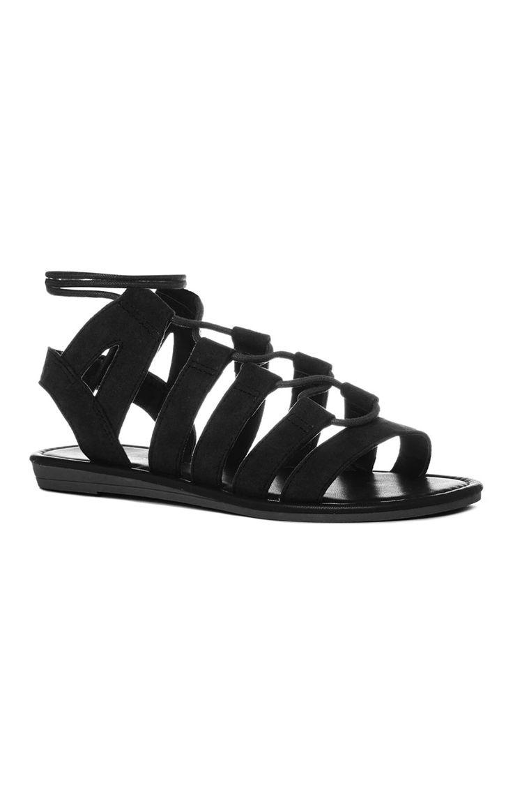 Black sandals primark - Primark Sand Lias Tipo Gladiador Camurcite Preto Black Gladiator Sandals Gladiatorsprimarksummertimeblackshoe