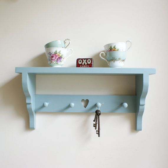 GRACE 4 peg Cottage chic Hand painted Wooden by MapleandGreen, £44.00