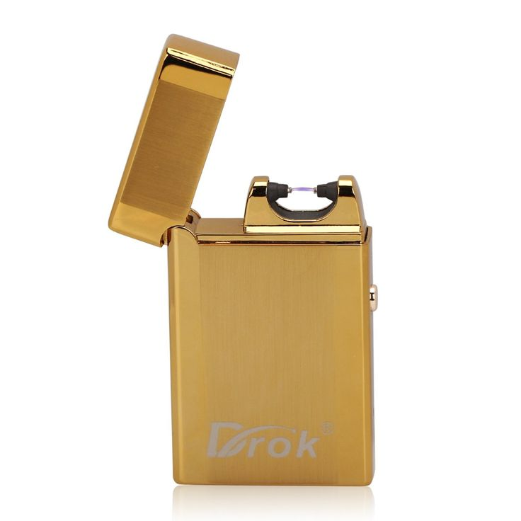 DROK® Electronic Cigar Lighter Rechargeable Cigarette Lighter Flameless Windproof Mini Pocket Ignition Lighter No Gas with USB Charging Cable for Christmas/Birthday Present, etc.