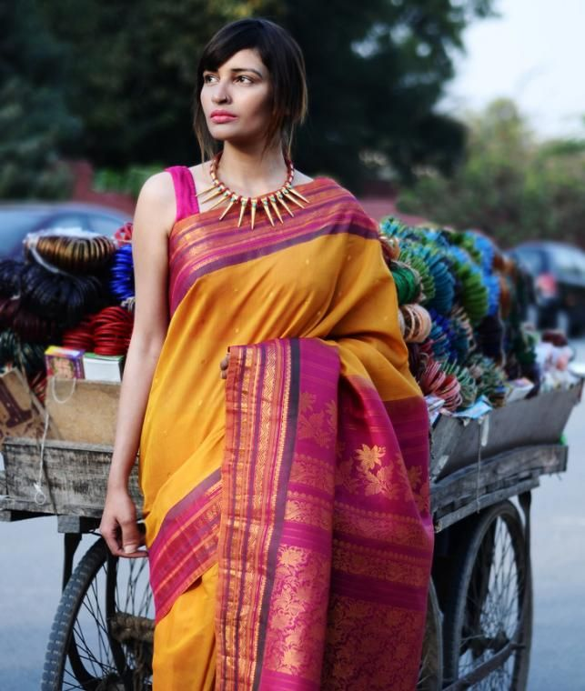 Buy Glorious Gadwal by Ghanshyam Sarode Handwoven Cotton Silk Gadwal Sarees Online at Jaypore.com