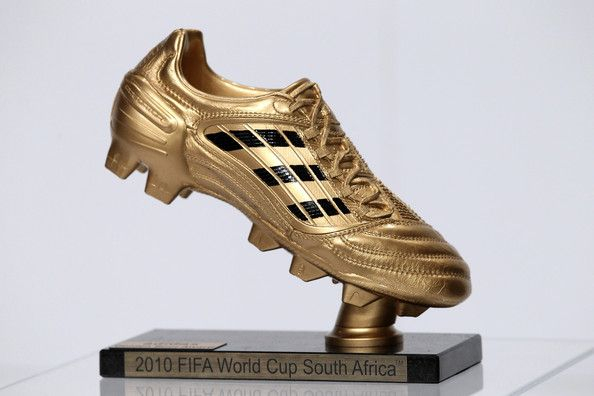 FIFA Golden Boot. Awarded to the top goalscorer at the Football World Cup. Get your FREE DOWNLOAD of the SportsQuest app at www.sportsquestapp.com @SportsQuestApp