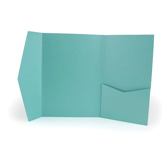 Wedding Invitation Folders With Pocket: A7 5x7 Pocket Folders For Wedding Invitations