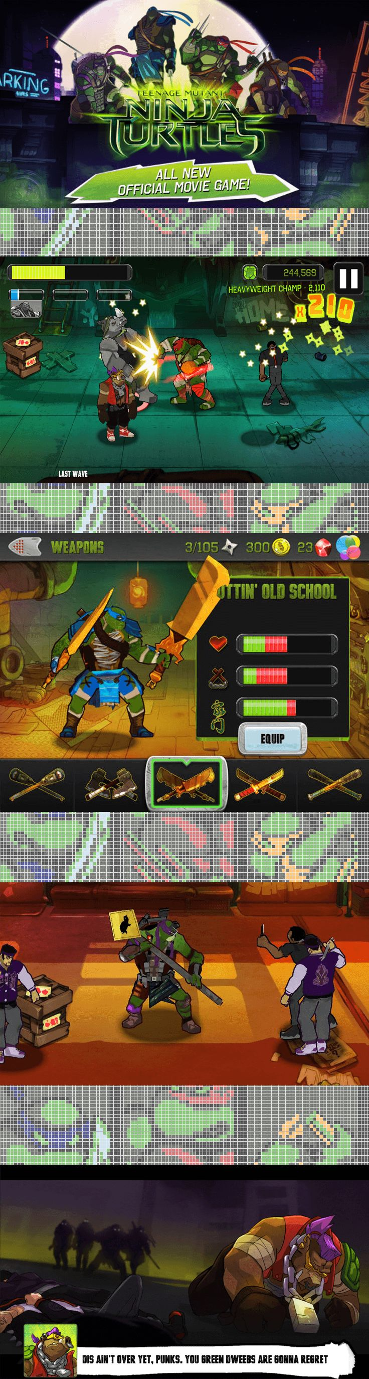 Kick Some Shell in This New TMNT Game For Your Phone.  The new deluxe TMNT Game will featured on Apple devices and it's already getting positive reviews. The graphics and sound are both excellent.  #TMNTMovie #TMNTGame #TMNT #NinjaTurtles