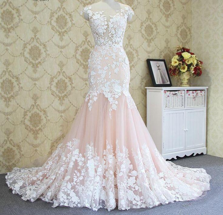 Appliqued Long Ball Gown Prom Dress,2017 Poular Wedding Dress - Thumbnail 1