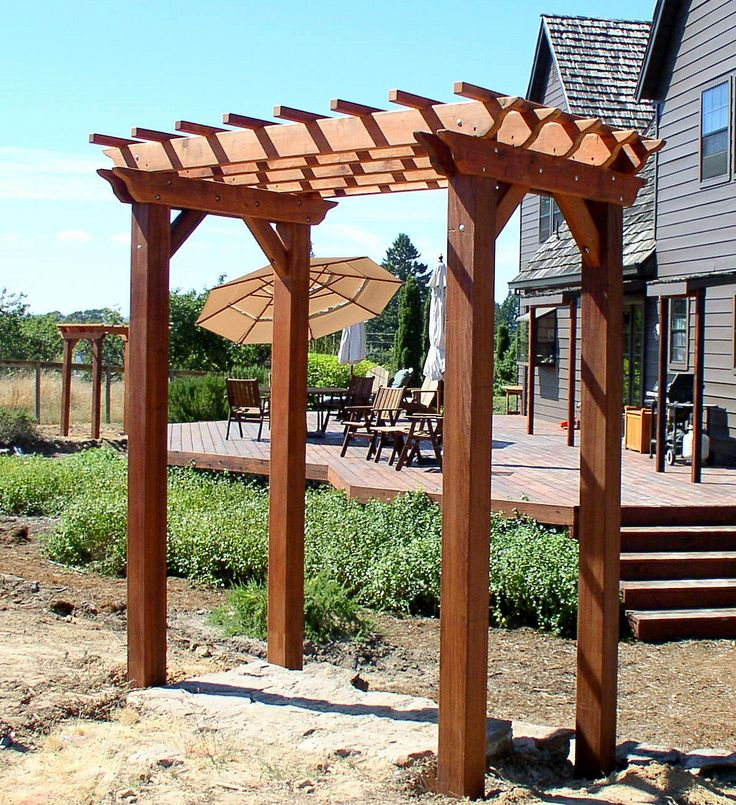 Small Garden With Decked Path And Arbour: Best 25+ Small Pergola Ideas On Pinterest