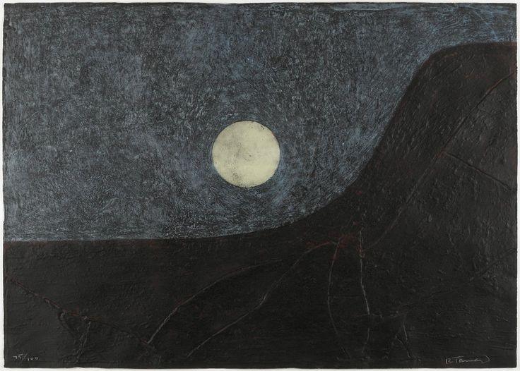 Paisaje con luna, Rufino Tamayo      ;    Taller de Gráfica Mexicana, Mexico City
