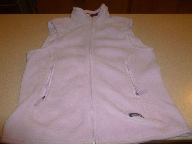 Women's Patagonia Synchilla Vest Lavender Fleece Size XL  #Patagonia