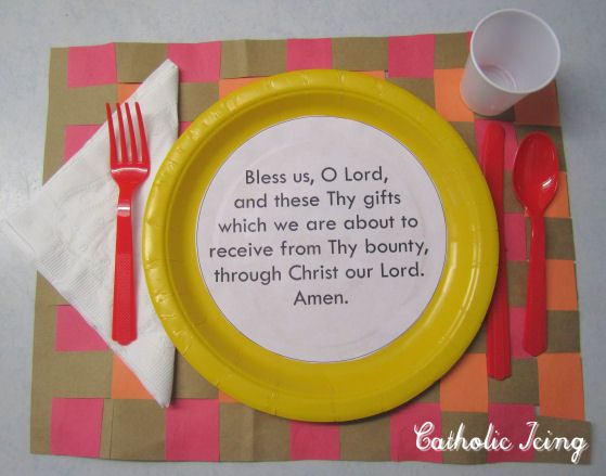 Grace Before Meals Craft for Kids  |  Catholic Icing