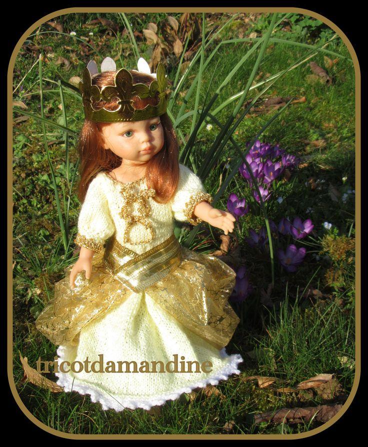 """La reine Bouton d'Or .... tuto """"chéries , paola"""" ou poupées tailles similaires ...."""