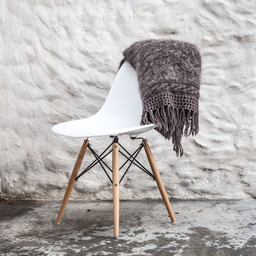 When a mohair blanket meets the Scandinavian design of this Weylandts chair in the middle of the Karoo, winter seems beautiful…