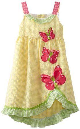 Rare Editions Girls 2-6X Seersucker Dress
