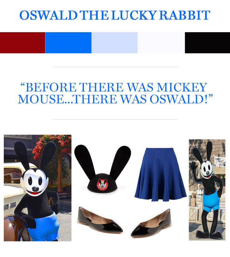 Get ready for Mickey's Halloween Party with costume inspiration from Mickey Mouse and Oswald the Lucky Rabbit.