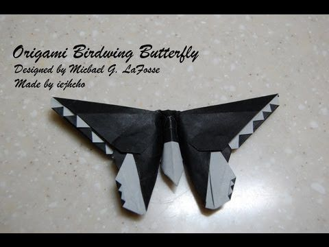 Origami Birdwing Butterfly Video - How to fold an Origami birdwing butte...