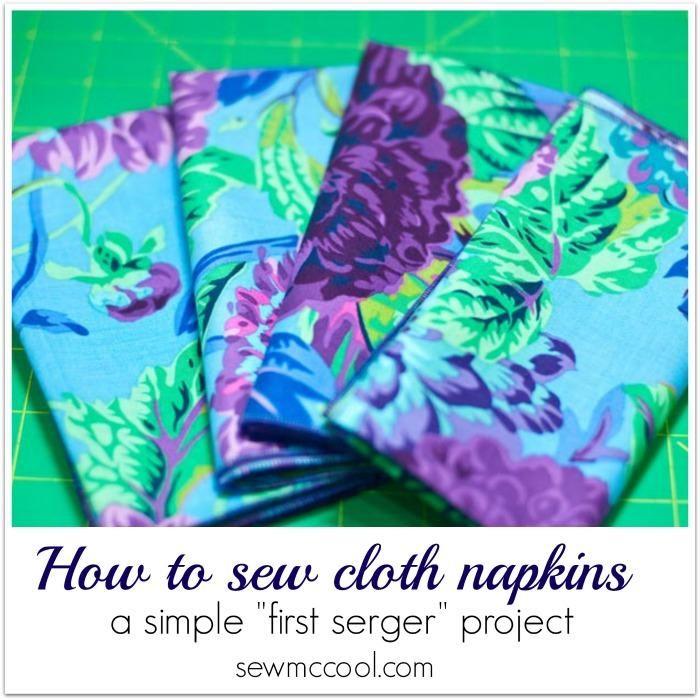280 best DIY Cloth Napkins images on Pinterest   Stoffservietten ...