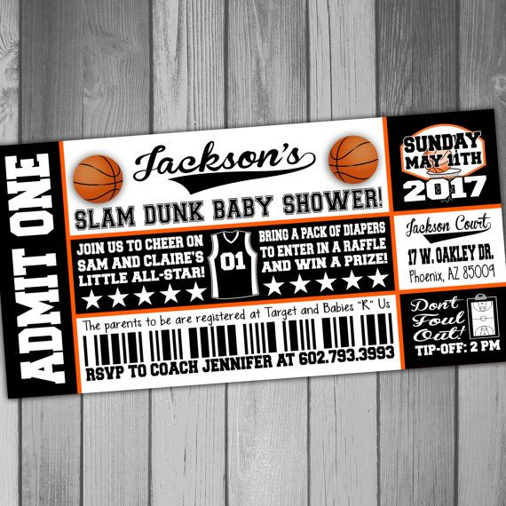 Nets Baby Shower Invitation Basketball Baby Shower by CLaceyDesign