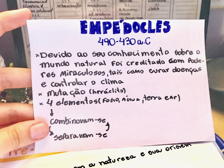 Pré-Socráticos resumo Empédocles