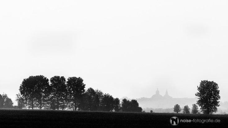 Gotha . Schloss Friedenstein im Nebel