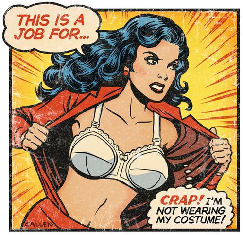 Superhero Costume Parodies Wonder Woman