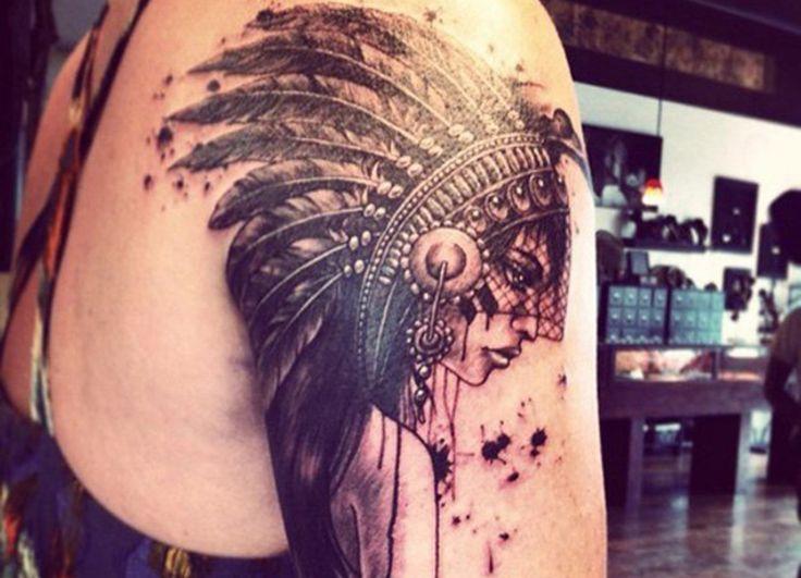Tatuajes de indios americanos, un homenaje a los nativos norteamericanos - http://www.tatuantes.com/tatuajes-de-indios-americanos/ #tattoo