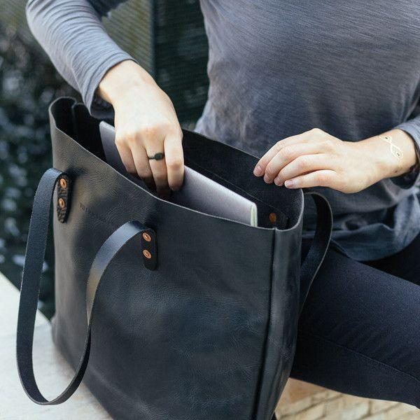 The Vintage Tote Bag - Antique Black