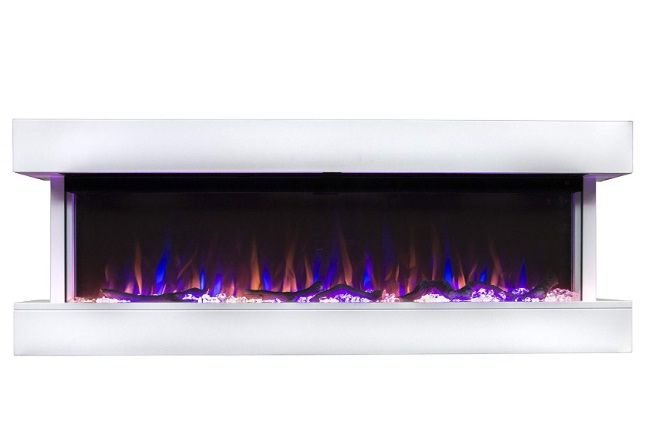 Touchstone Chesmont 50 80033 50 White Mantle Wall Hanging Electric Fireplace Contemporary Fireplace Electric Fireplace White Mantle