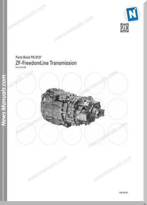 zf-freedomline transmission parts book pb-0127   parts manual   manual,  books v� oem