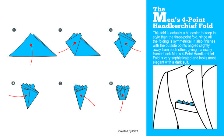 How To Fold a Four-Point Handkerchief (3 of 11) by DQT