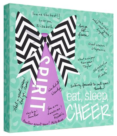 Cheerleader Signature Canvas Keepsake - entire squad can sign