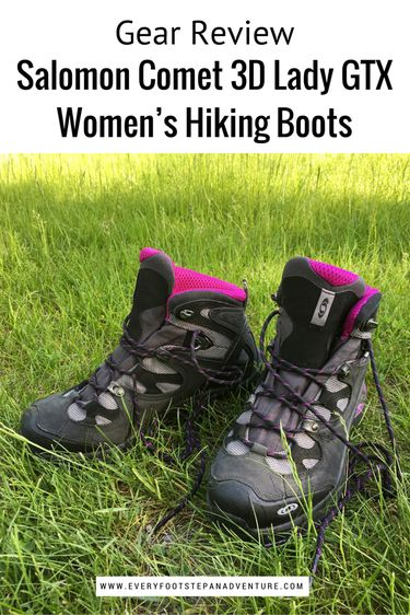 hiking boots, best hiking boots, women's hiking boots, hiking boots for women, waterproof hiking boots, Salomon Comet 3D Lady GTX