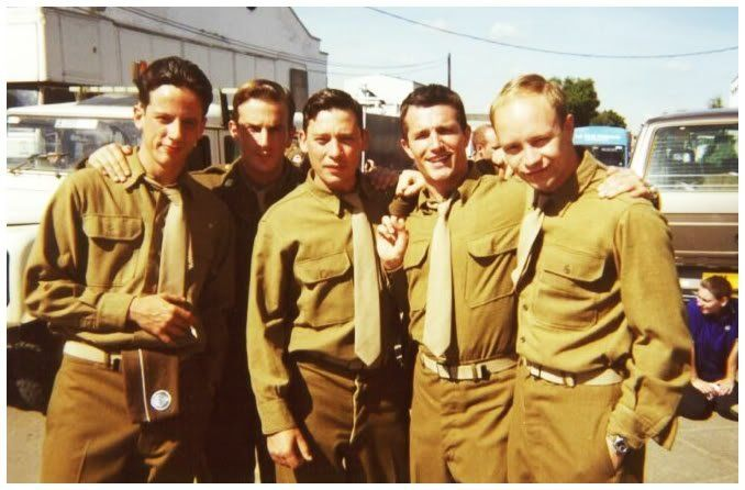 Behind The Scenes Of The Making Of Band Of Brothers 39 Fun Images Band Of Brothers Richard Speight Ross Mccall