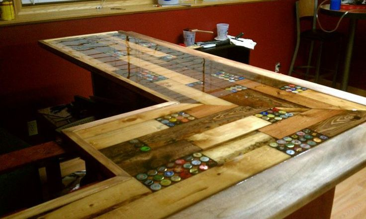 Resin bar top ideas share bar top ideas pinterest beer caps bar tops and epoxy - Bar tops ideas ...