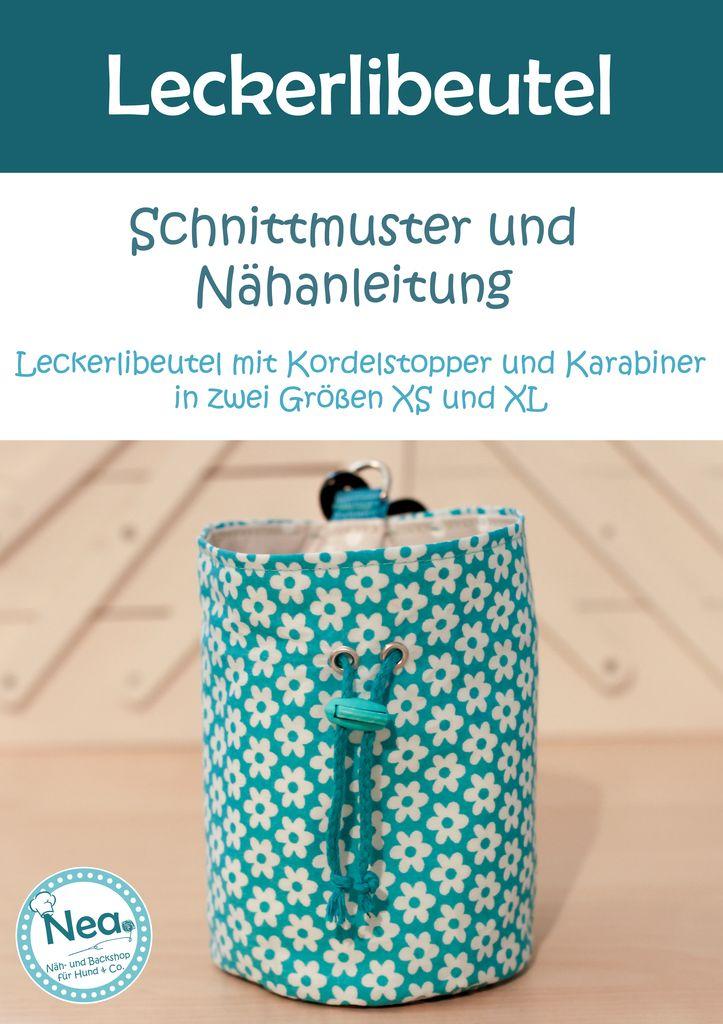Anleitung Leckerlibeutel nähen | Schnittmuster/ Sewing Pattern ...