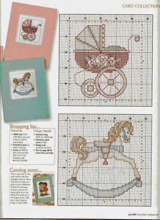 schemi punto a croce cavallo a dondolo   Hobby lavori femminili - ricamo - uncinetto - maglia