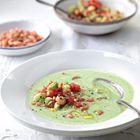 Koude avocadosoep met garnalen - recept - okoko recepten