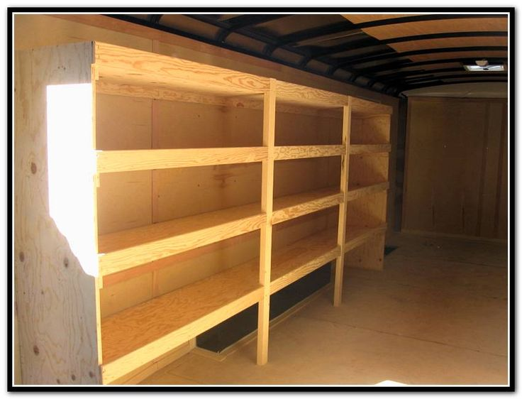 Enclosed Trailer Shelving >> Work Trailer Shelving | Work trailer, Trailer shelving ...