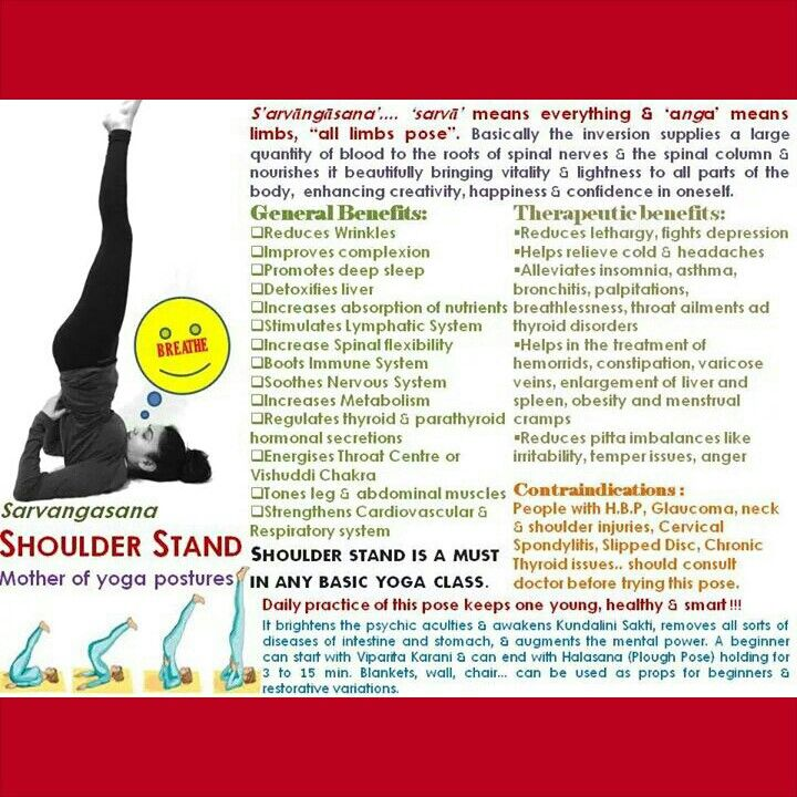 Shoulder Stand - Queen of Yoga poses