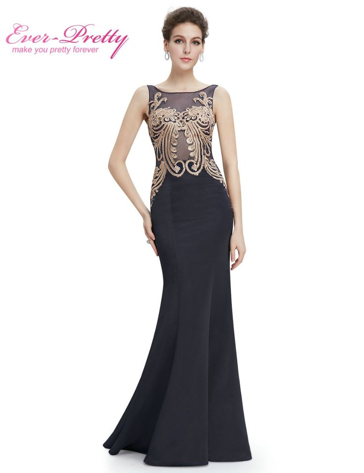 Elegant Black Long Evening Dresses