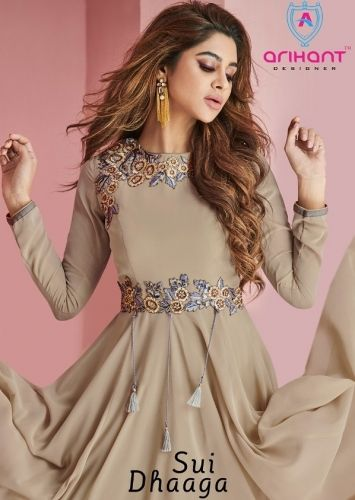 7b239ea329 ARIHANT DESIGNER SUI DHAAGA PARTY WEAR GOWN STYLE LONG KURTIS COLLECTION
