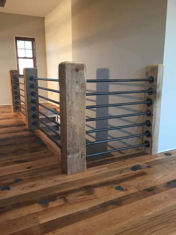 Résultats de recherche d'images pour « diy stair rail with conduit »