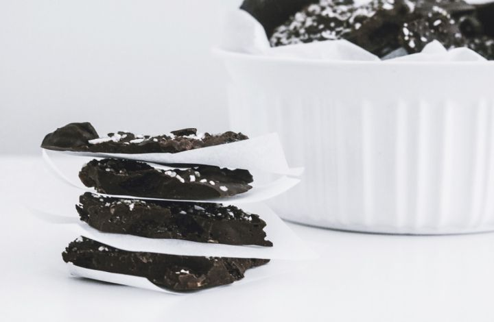 ELEVATED DARK CHOCOLATE BARK: A dairy free dark chocolate bark infused with plant based nutrient dense ingredients that deliver an array of antioxidants, vitamins, minerals, healthy fats, plant protein, and fiber.